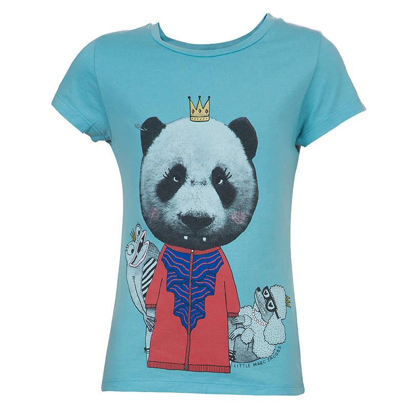 Little Marc Jacobs Blue Graphic Print Short Sleeve T Shirt 8 Yrs