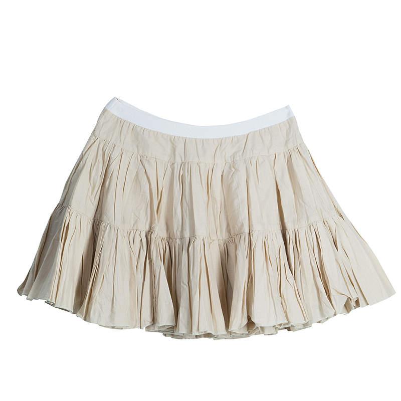 Roma e Tosca Beige Cotton Skirt 12 Yrs