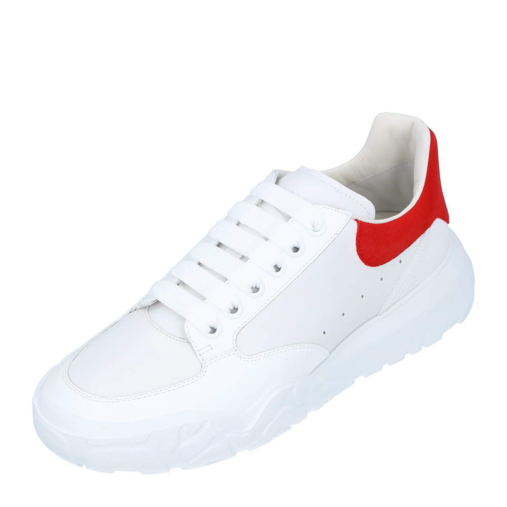 Alexander McQueen White/Red Oversized Sneakers Size EU 40