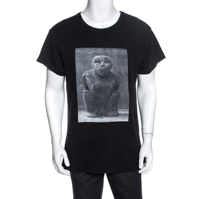 Amiri Black Printed Jersey Oversized T-Shirt XS