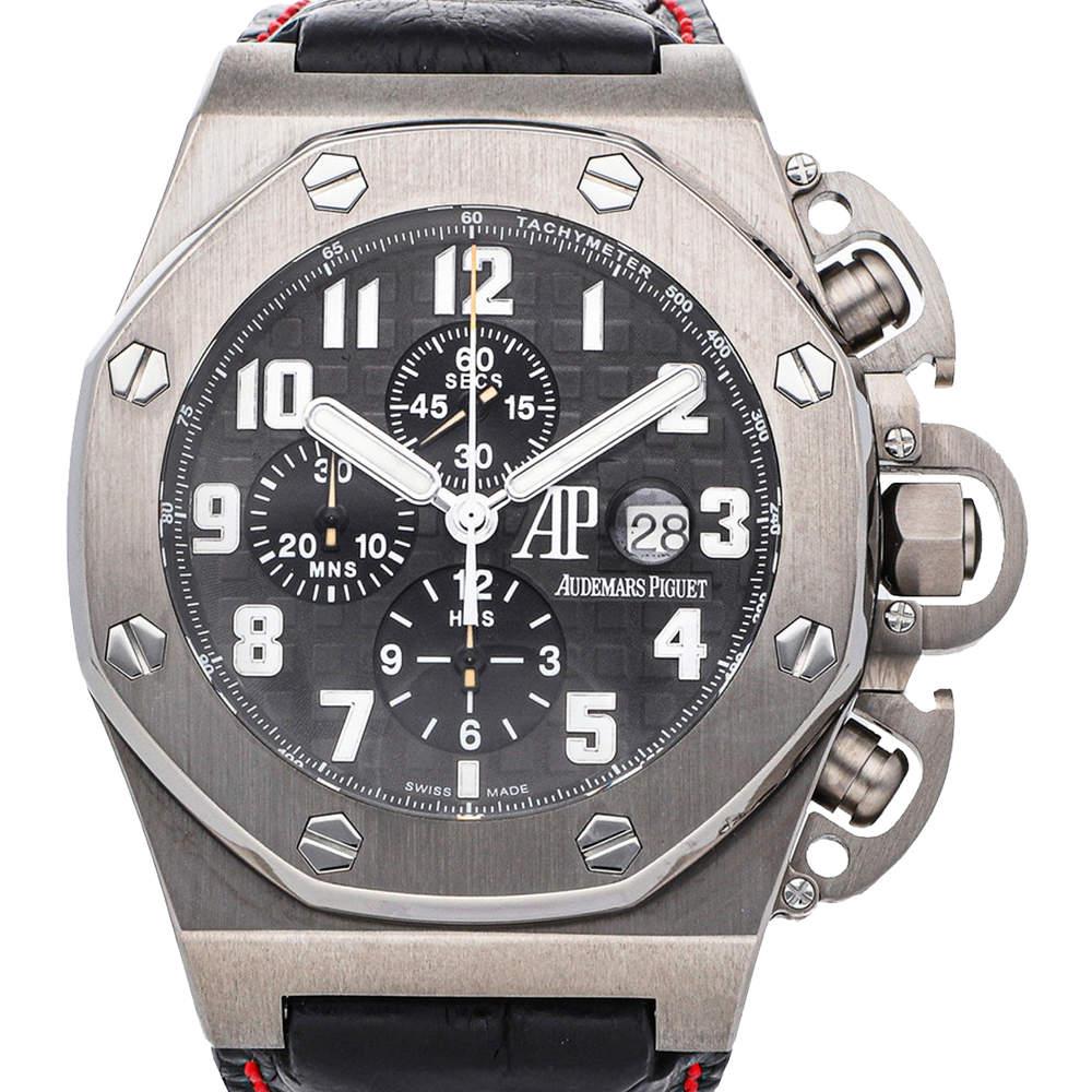 Audemars Piguet Black Titanium T3 Royal Oak Offshore Chronograph Limited Edition 25863TI.OO.A001CU.01 Men's Wristwatch 48 MM