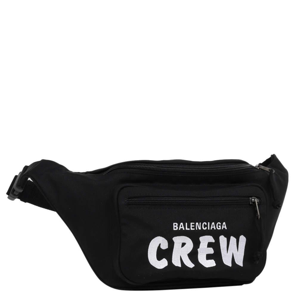 حقيبة حزام بالنسياغا كرو سوداء