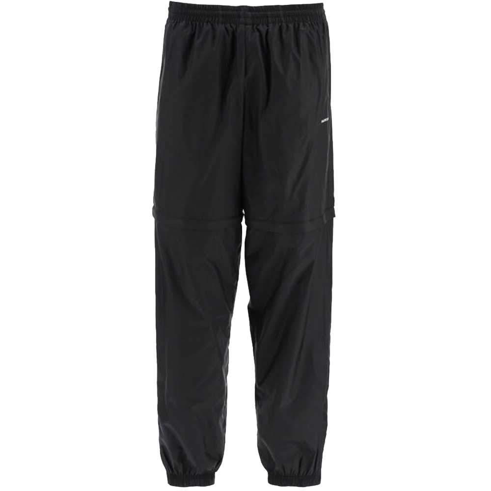 Balenciaga Black Nylon Zipped Tracksuit Pants Size L