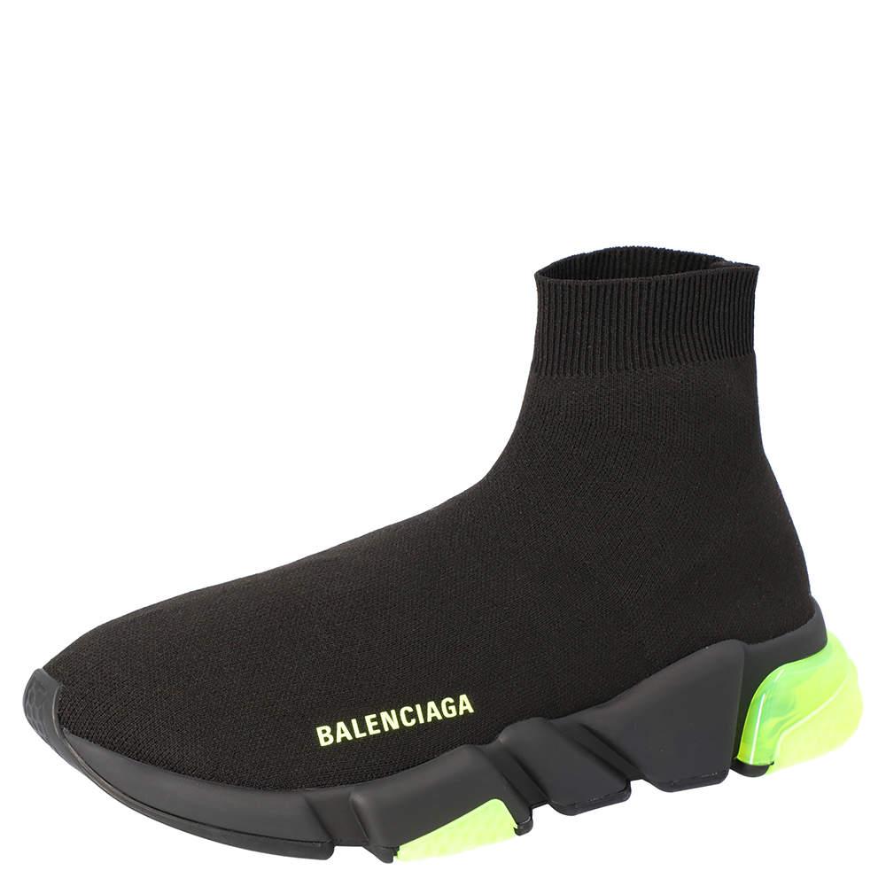 Balenciaga Yellow Fluo Speed Clearsole Trainers Size EU 42