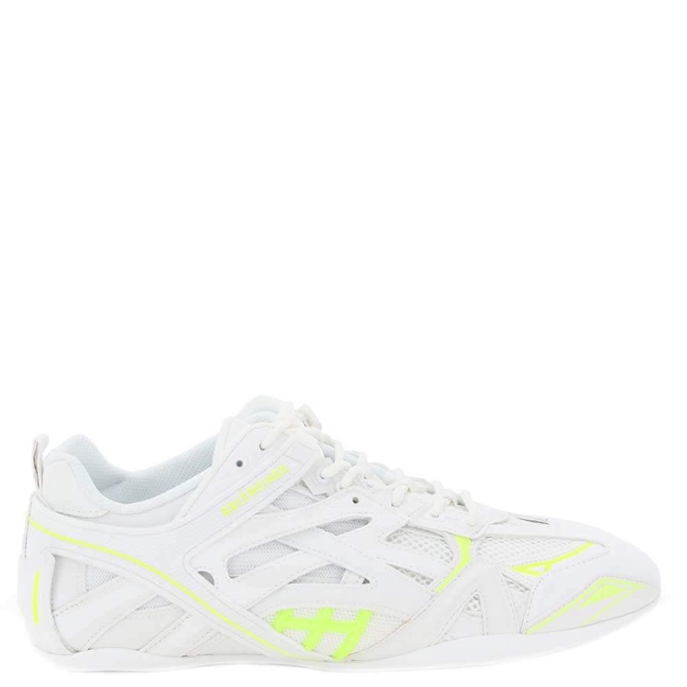 Balenciaga White Leather Drive Sneakers Size IT 42