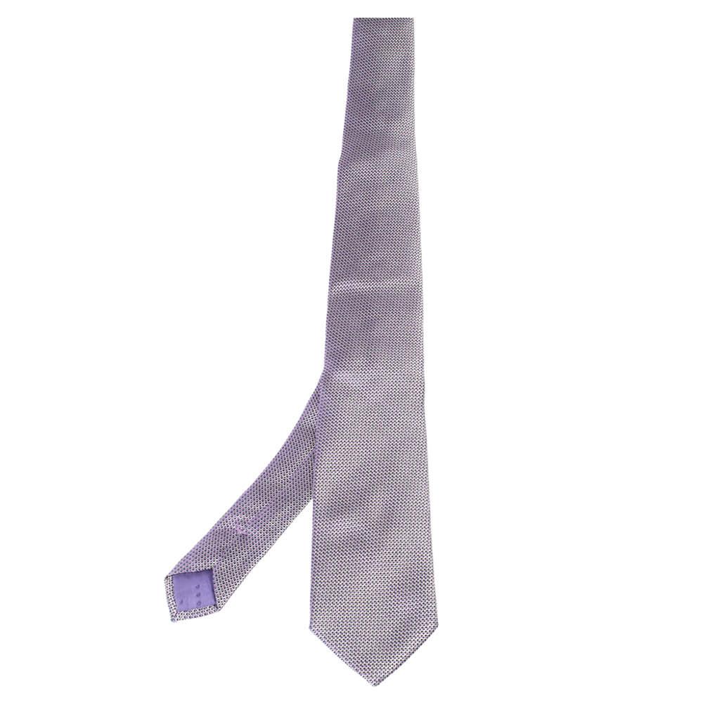 Boss By Hugo Boss Purple Silk Micro Check Tie