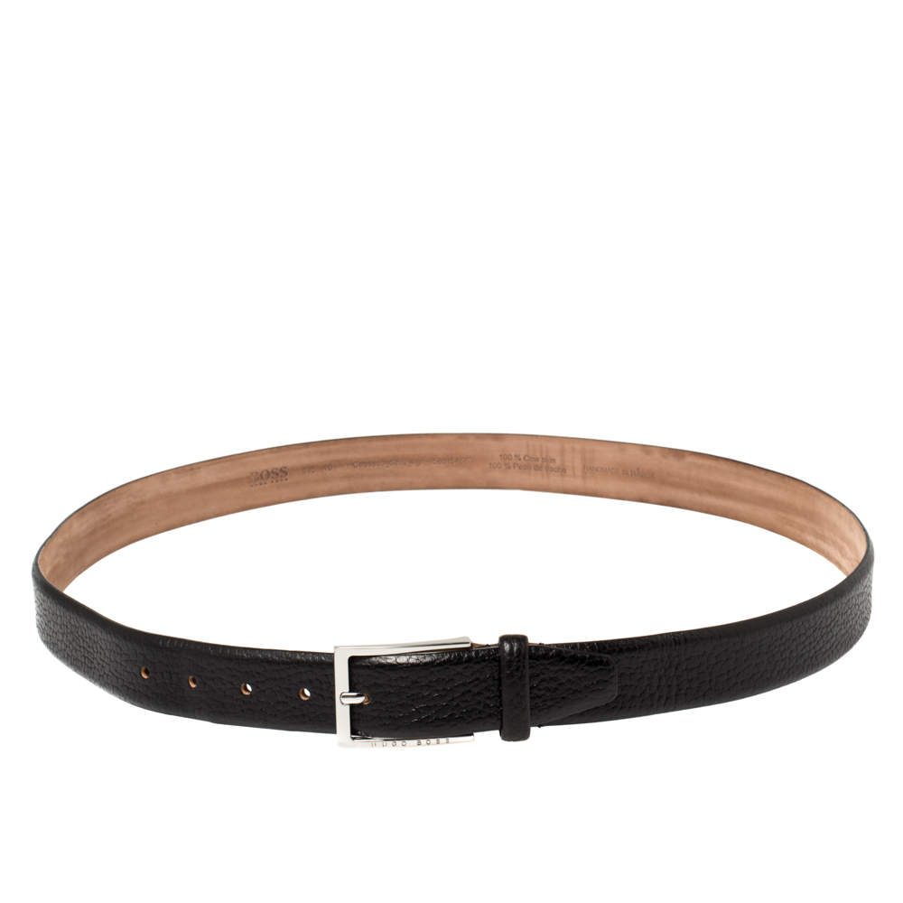 Boss By Hugo Boss Black Leather Belt 105 CM