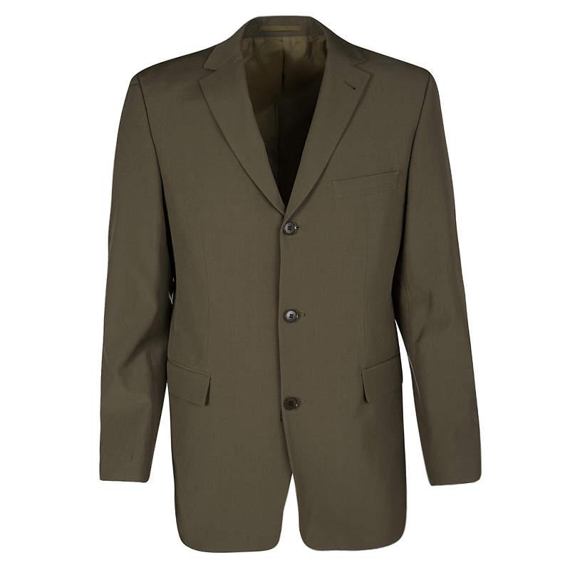 Boss By Hugo Boss Vintage Brown Wool Tailored Rossellini Blazer L