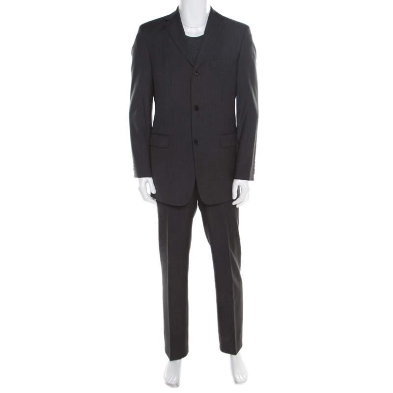 Boss By Hugo Boss Grey Wool Rossellini/Movie Suit M