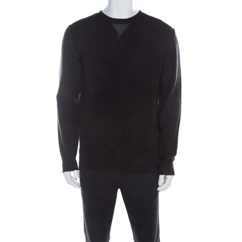 Boss by Hugo Boss Charcoal Grey Wool Sweater L