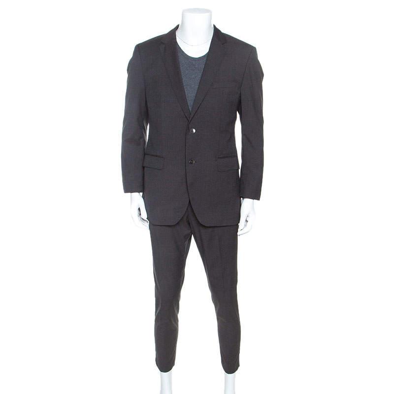 Hugo Boss Grey Micro Checked Wool James5/Sharp7 Suit L