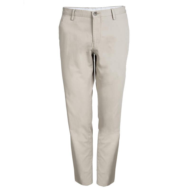Boss By Hugo Boss Beige Cotton Trousers L