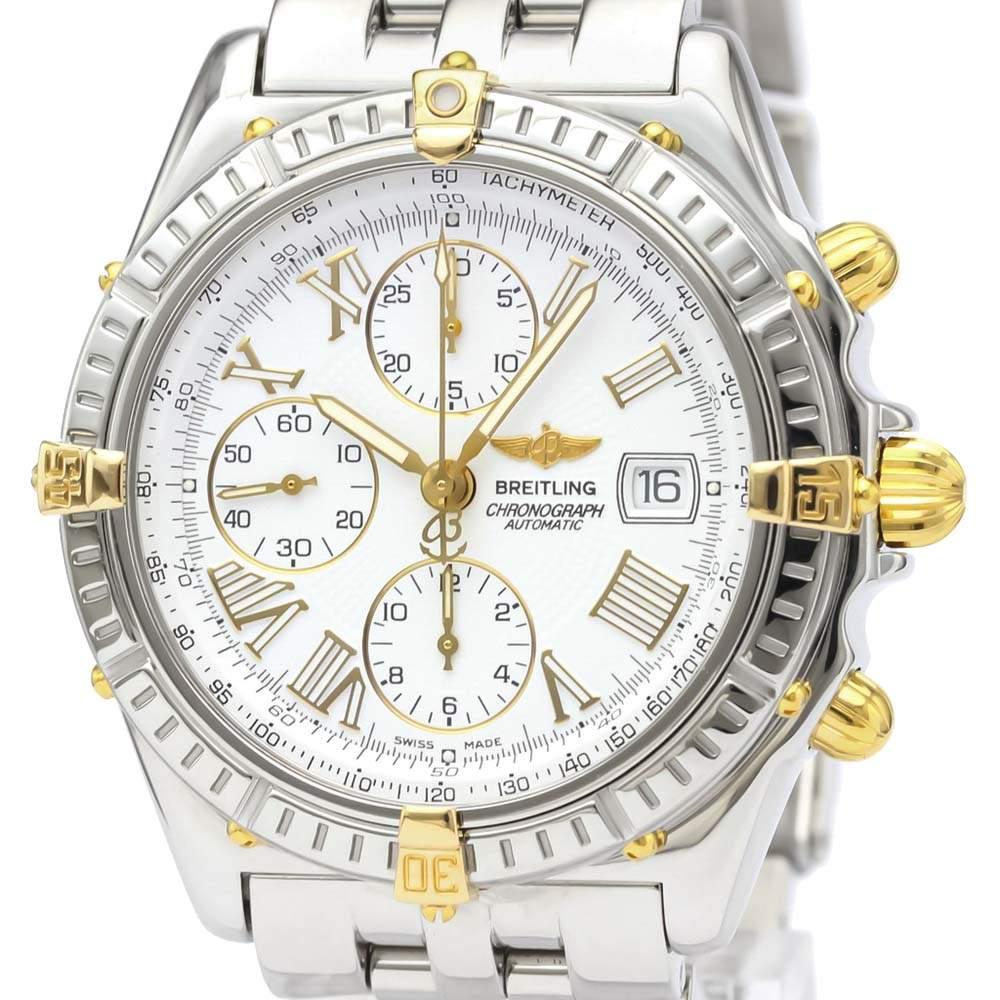 ساعة يد رجالية بريتلينغ B13055 كروس وايند أوتوماتيك B13055 ذهب أصفر 18 قيراط وستانلس ستيل 44 مم