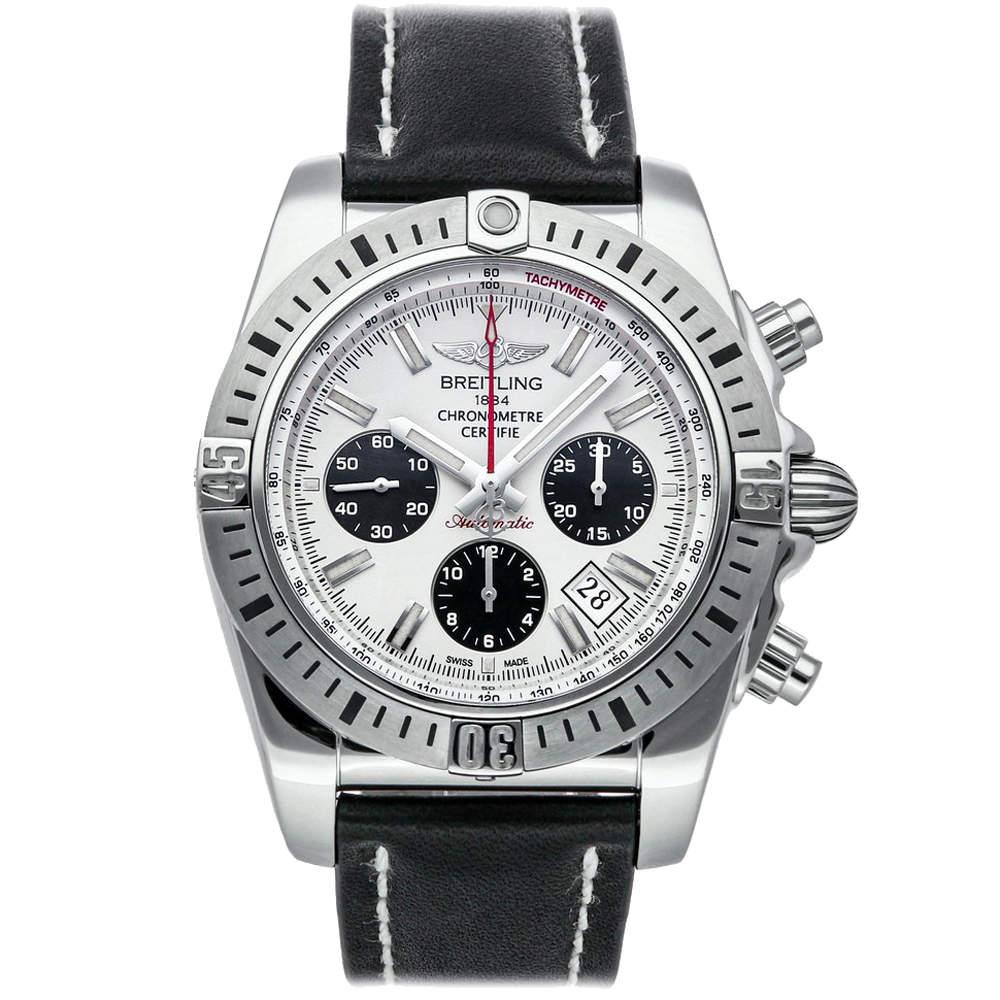 Breitling White Stainless Steel Chronomat Airborne AB01154G/G786 Men's Wristwatch 44 MM