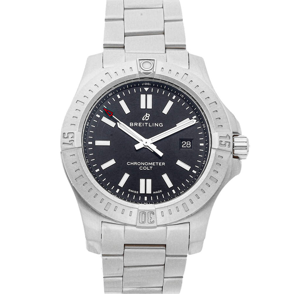 Breitling Black Stainless Steel Colt A17388101B1A1 Men's Wristwatch 44 MM