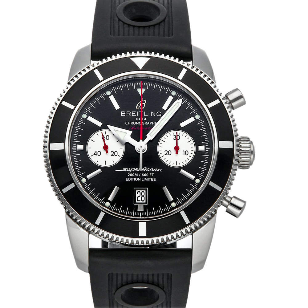 Breitling Black Stainless Steel Superocean Heritage Limited Edition A2332024/B991 Men's Wristwatch 46 MM