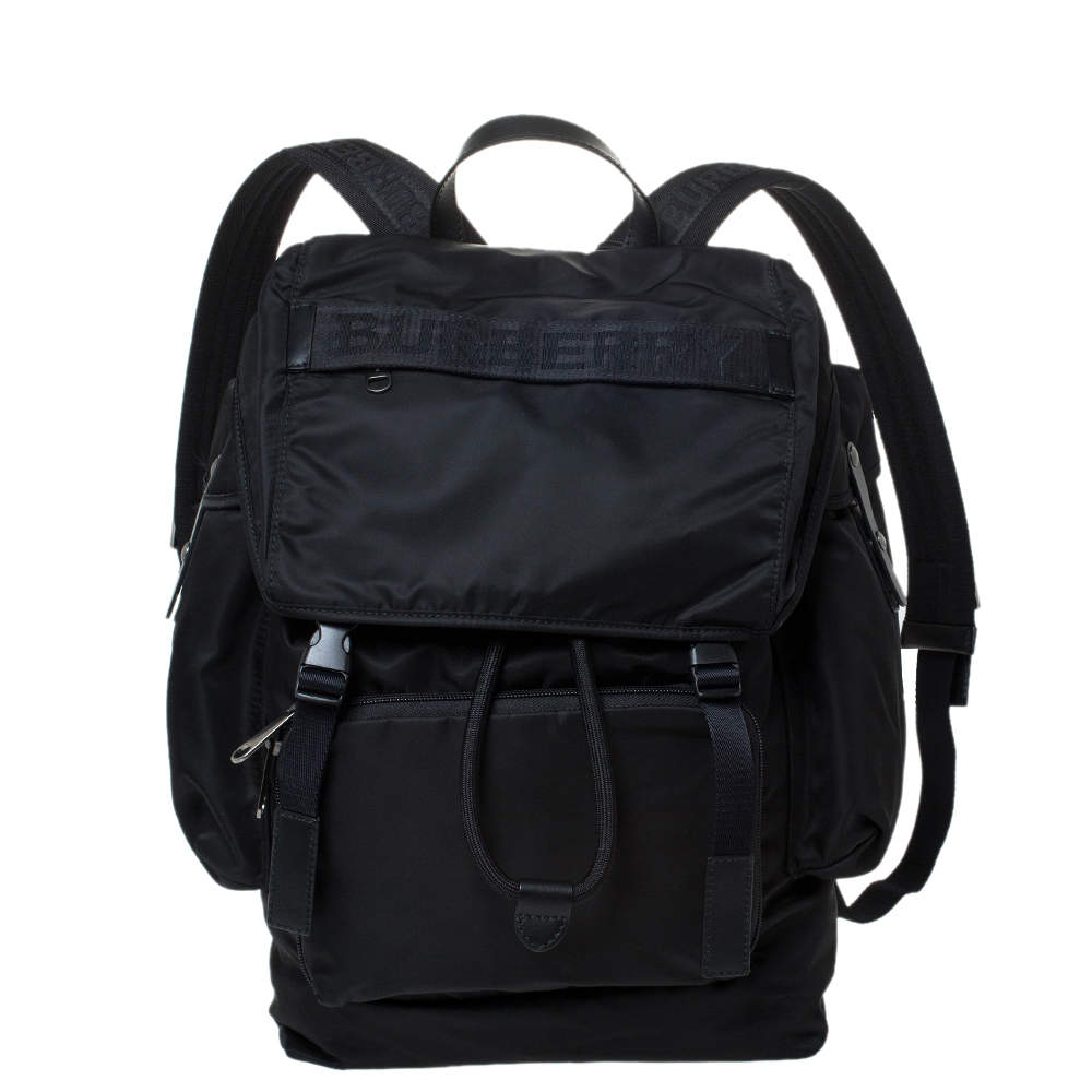 Burberry Black Nylon Ranger Backpack