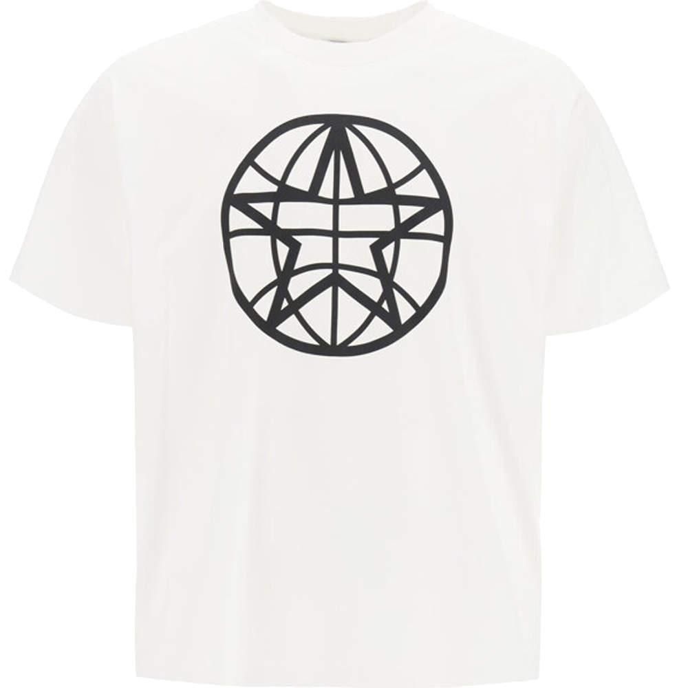 Burberry Black Globe Print T-Shirt Size M