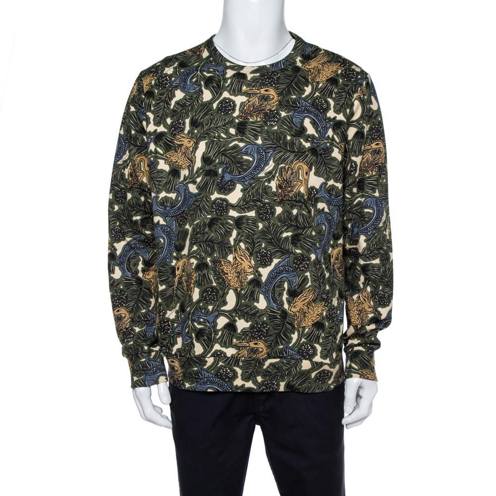 Burberry Multicolor Cotton Printed Sweatshirt XL