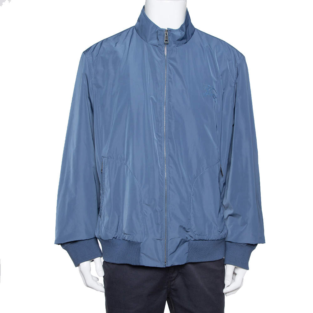 Burberry Brit Jade Blue Synthetic Double Collar Jacket 3XL