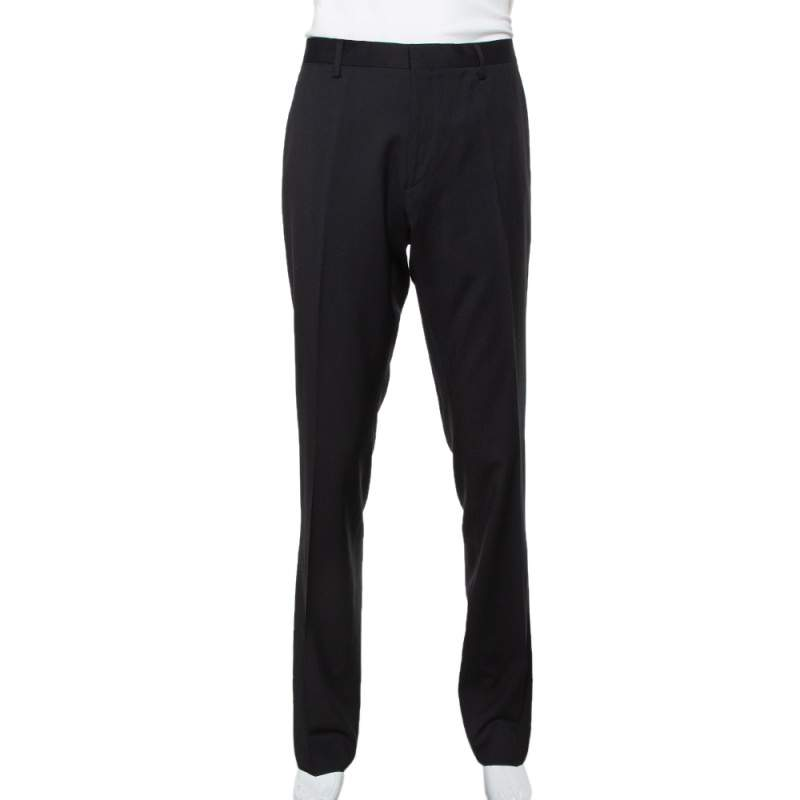 Burberry Black Wool Millbank Tailored Trousers XL