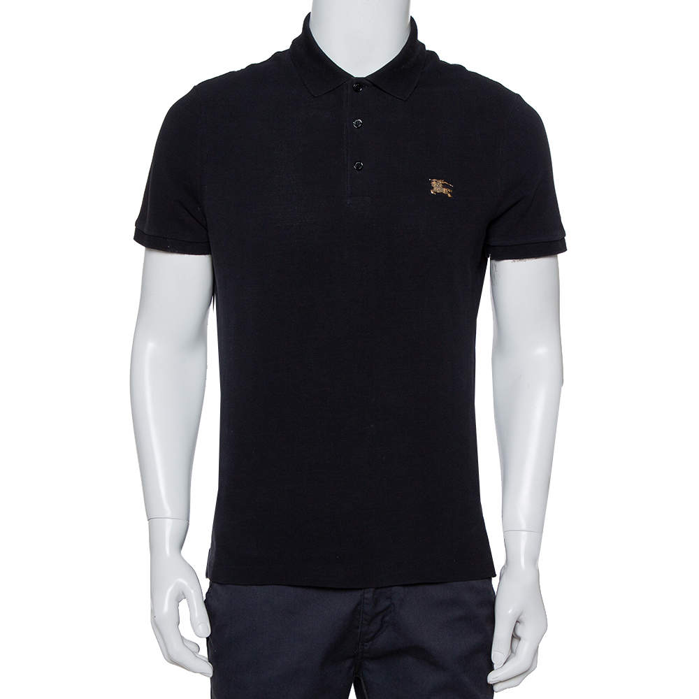 Burberry Brit Black Cotton Pique Polo T-Shirt M