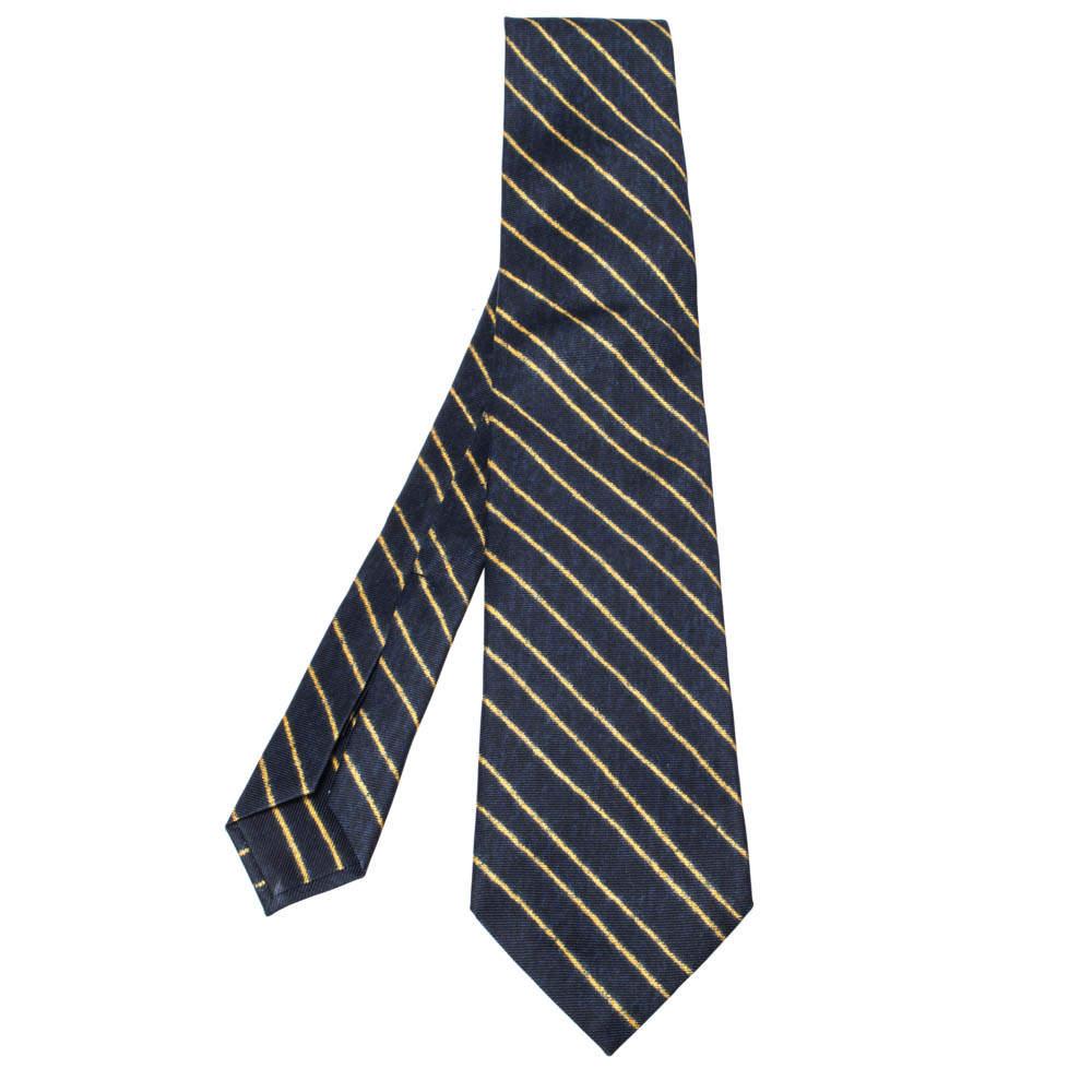 Bvlgari x Davide Pizzigoni Bicolor Diagonal Striped Silk Tie