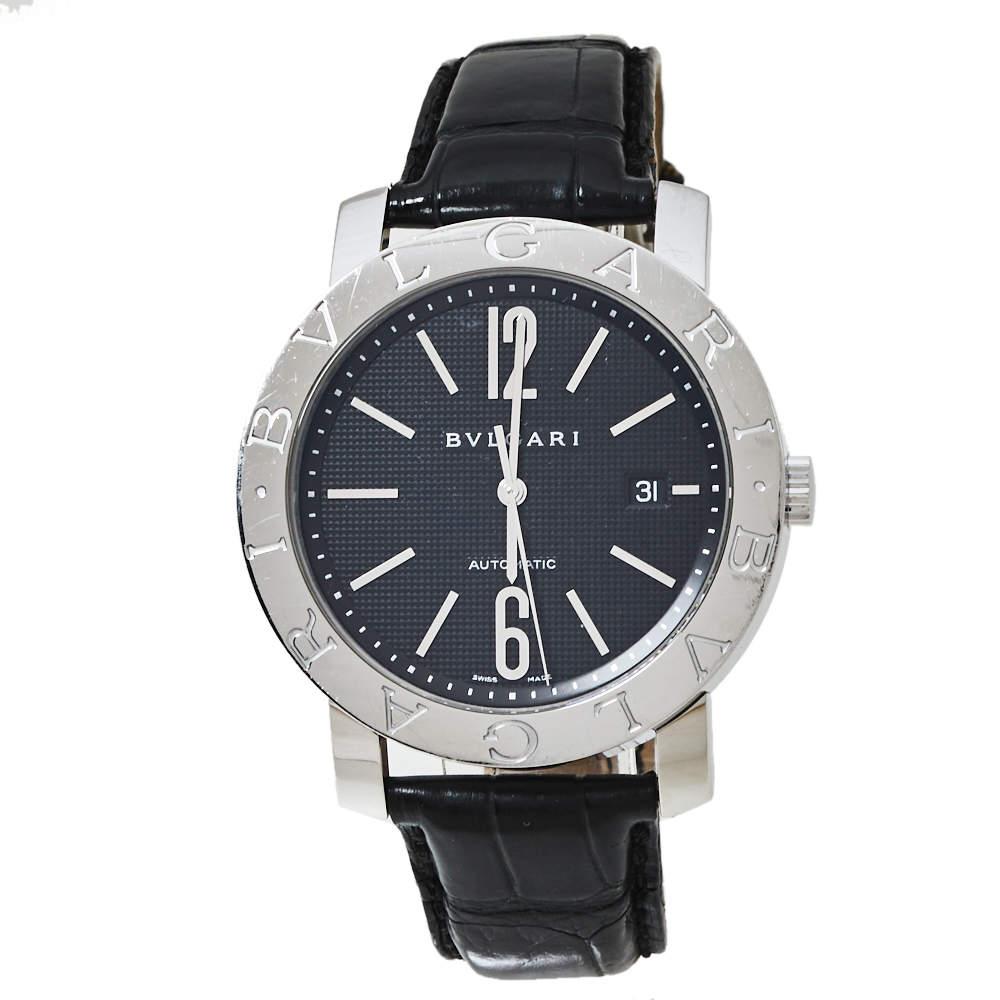 Bvlgari Bvlgari Black Stainless Steel BB 42 SL Auto Men's Wristwatch 42 MM