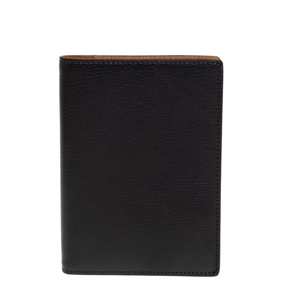 Cartier Black Leather Passport Holder