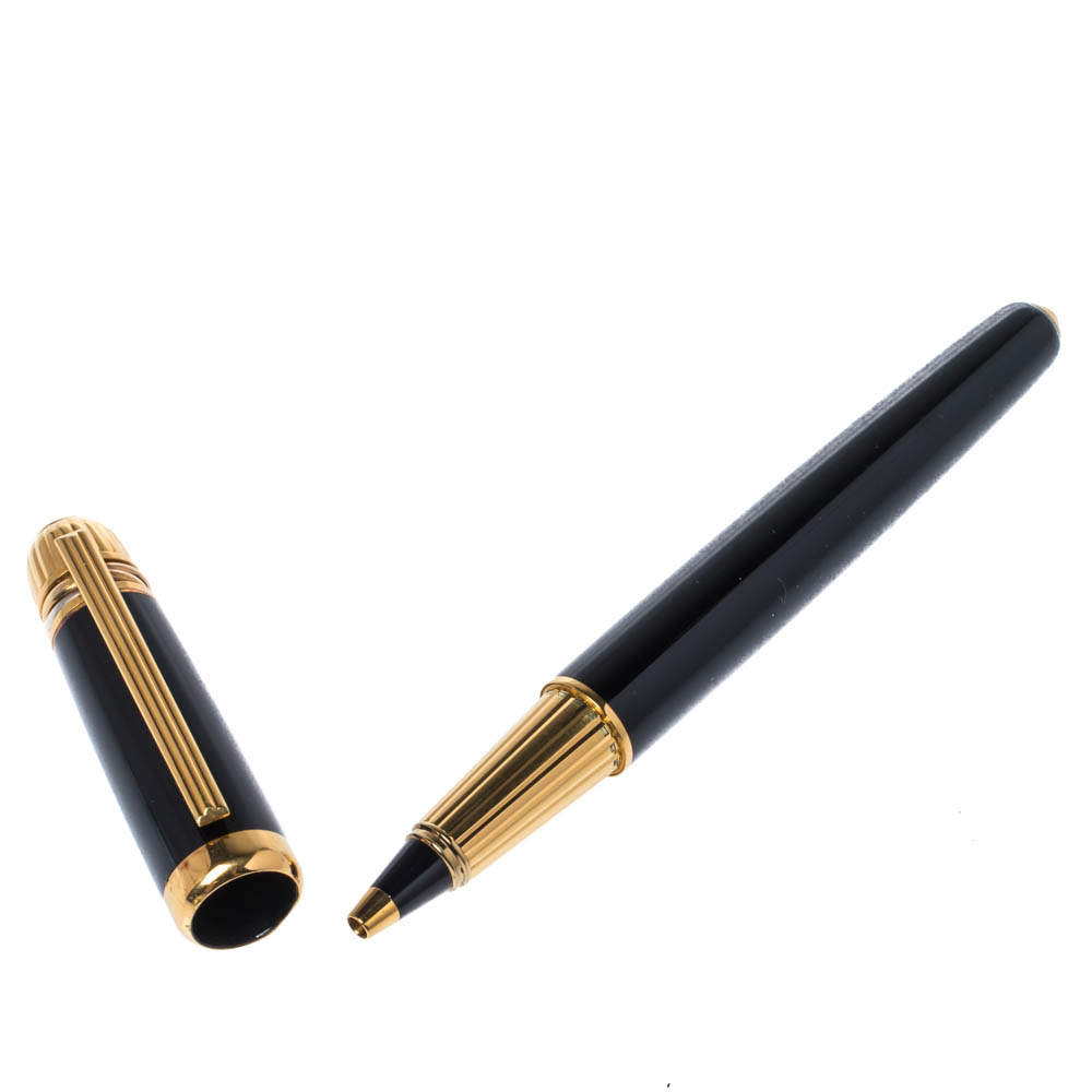 Cartier Pasha de Cartier Black Resin Gold Plated Pen