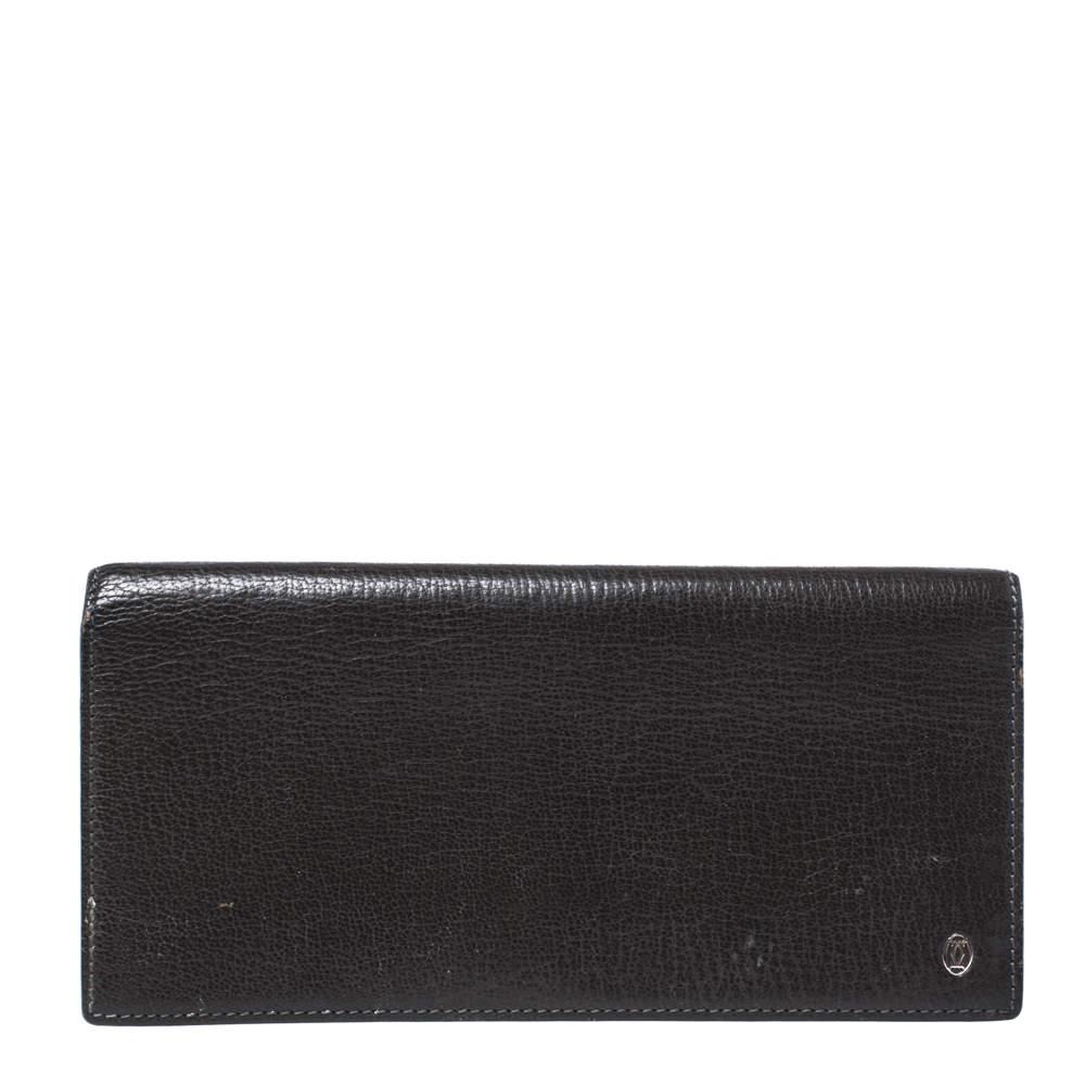 Cartier Olive Green Leather Pasha de Cartier Bifold Wallet