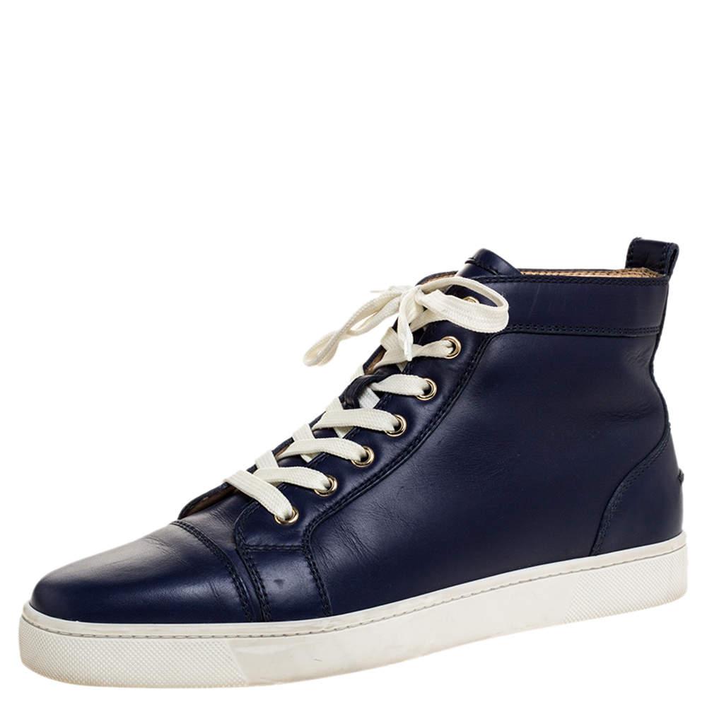 Christian Louboutin Navy Blue Leather