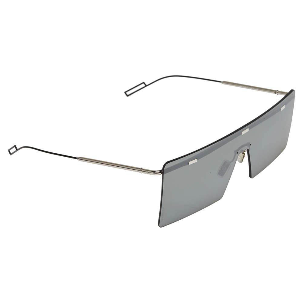 نظارة شمسية ديور 0100T هارديور مربعة شيلد عاكسة أسود و فضي