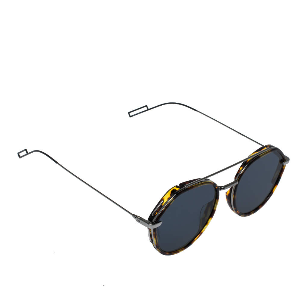 Dior Homme Tortoiseshell-Effect /Blue Dior0219S Round Sunglasses