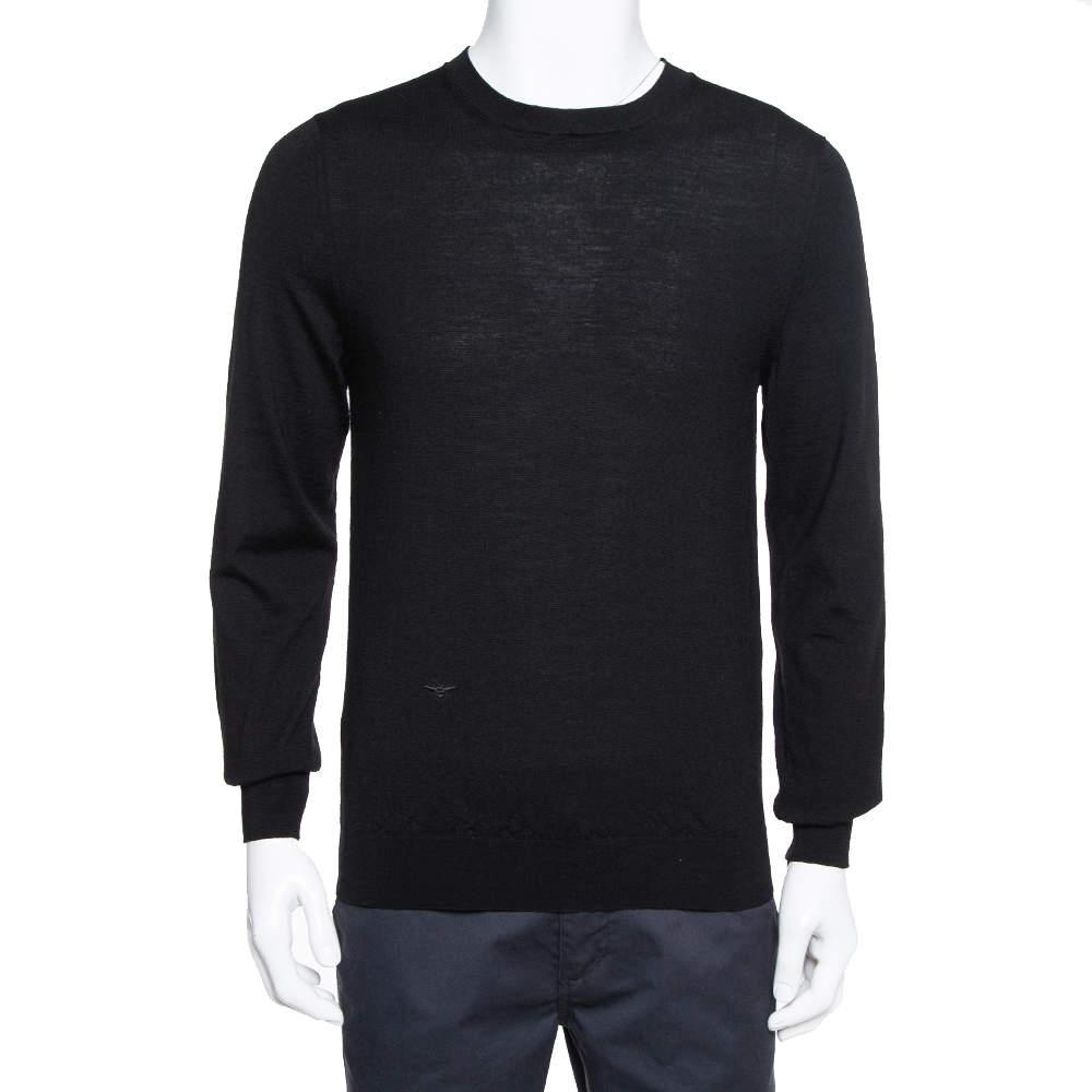 Dior Homme Black Wool Crewneck Sweater L