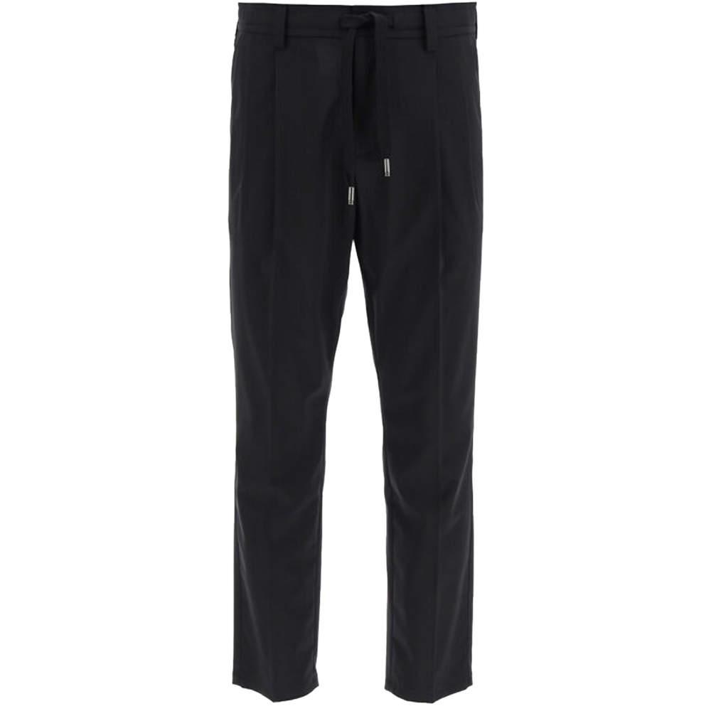 Dolce & Gabbana Black Stretch Wool Jogging Pants Size EU 50