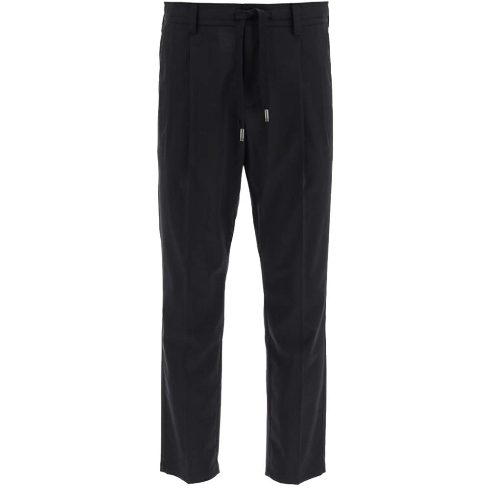 Dolce & Gabbana Black Stretch Wool Jogging Pants Size EU 52