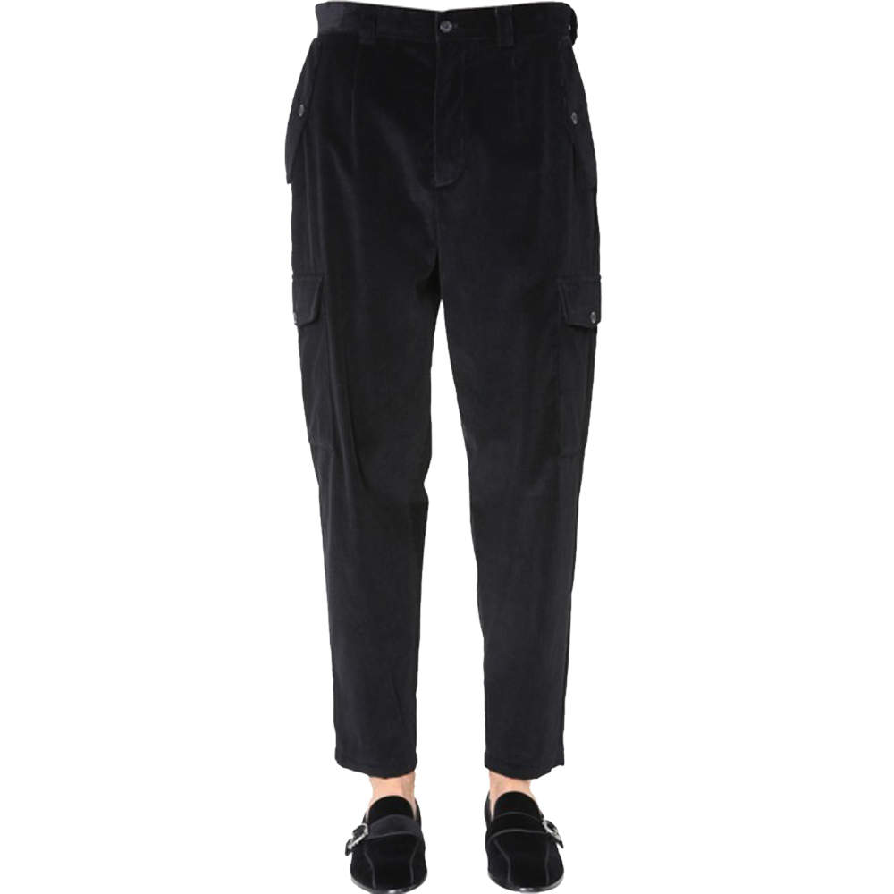 Dolce & Gabbana Black Cargo Pants Size EU 50