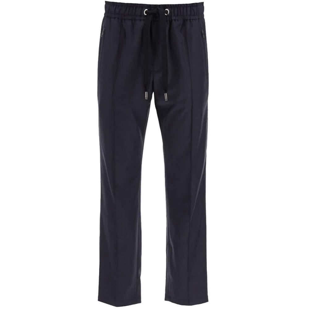 Dolce & Gabbana Black Wool Jogger Pants Size EU 52