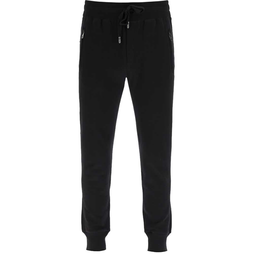 Dolce & Gabbana Black Jogging Trousers Logo Size IT 50