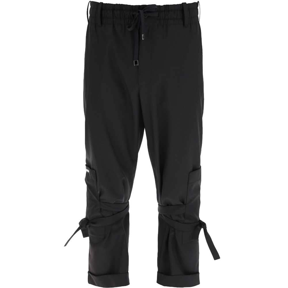 Dolce & Gabbana Black Jogging Trousers With Three-Dimensional Logo Size IT 46