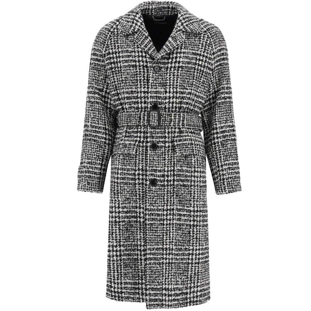 Dolce & Gabbana Prince Of Wales Coat Size EU 46