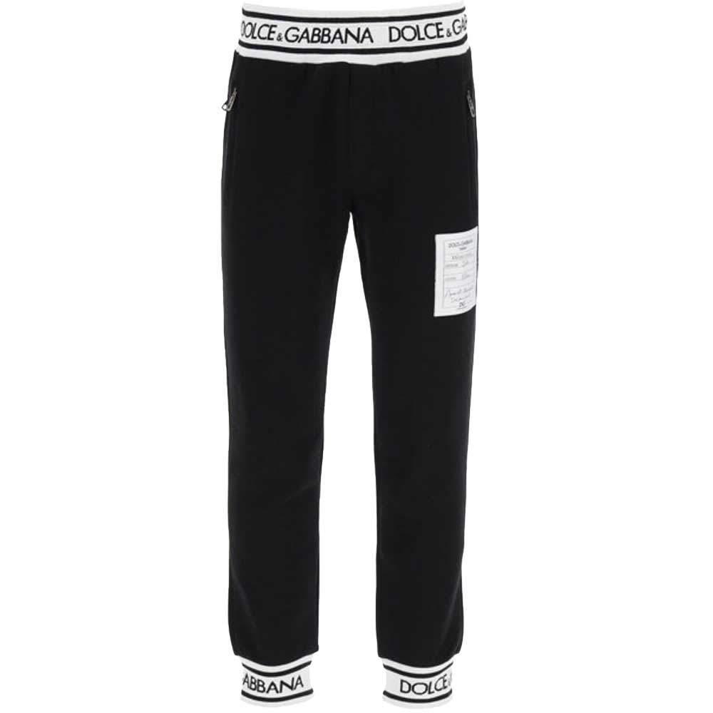 Dolce & Gabbana Black Logo Patch detail Track Pants Size EU 46