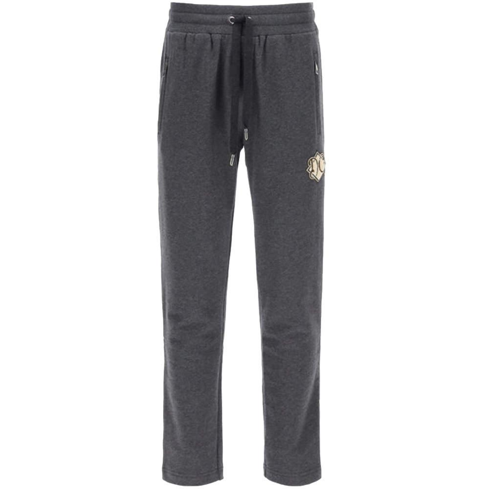 Dolce & Gabbana Grey Maxi Logo Sweatpants Size EU 46