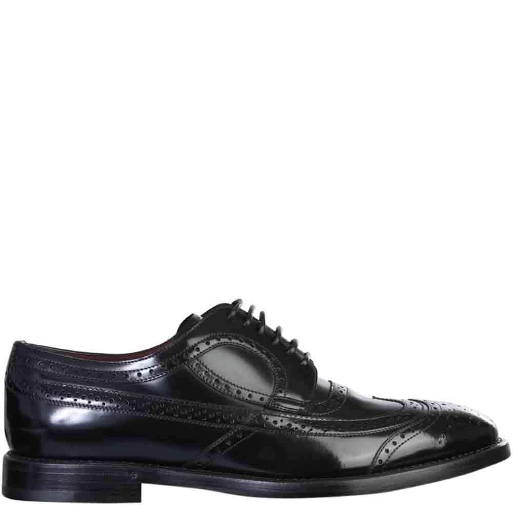 Dolce & Gabbana Black Derby Brogue Shoes Size IT 43.5