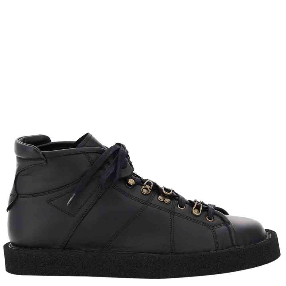 Dolce & Gabbana Black Modigliani Lace-Up Shoes Size IT 44
