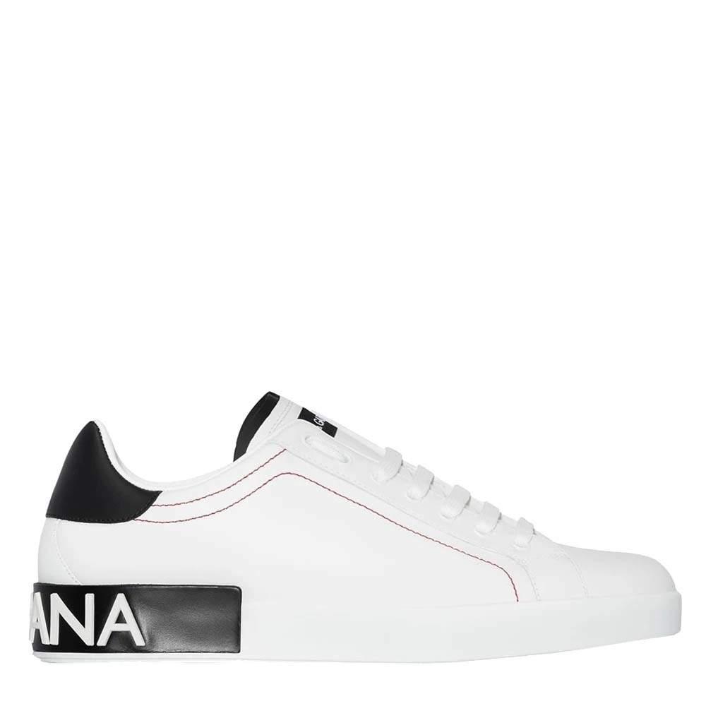 Dolce & Gabbana White Portofino Sneakers Size EU 44
