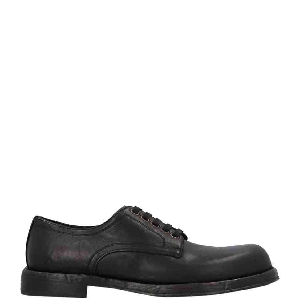 Dolce & Gabbana Black Leather Derby Size EU 44