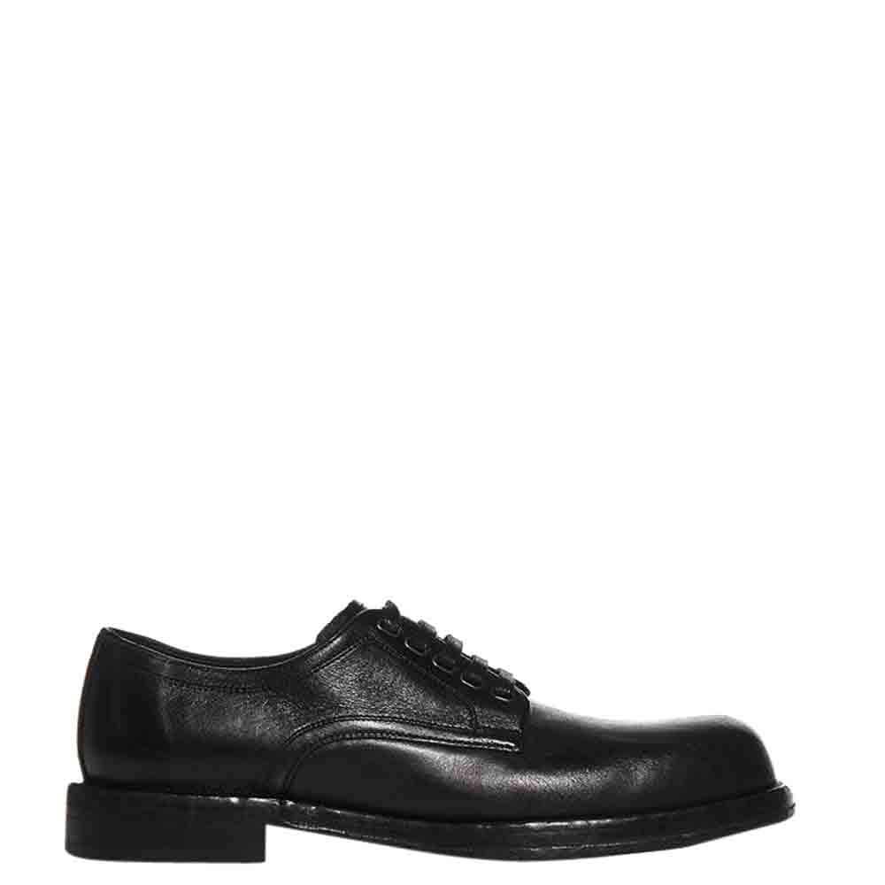 Dolce & Gabbana Black Leather Derby Size EU 42.5