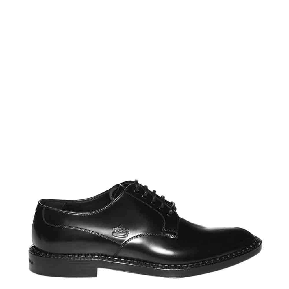 Dolce & Gabbana Black Leather Derby Size EU  41
